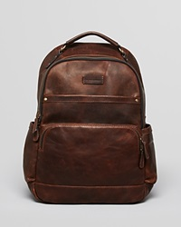 Frye Logan Leather Backpack Dark Brown
