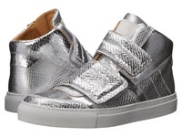 Maison Martin Margiela Metallic Crackle High Top Silver Women's Lace Up Casual Shoes