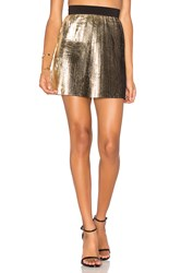 By Johnny Foil Fringe Skirt Metallic Gold