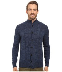 Nautica 9 Gauge Rope Cable Cardigan Mood Indigo Men's Sweater Navy