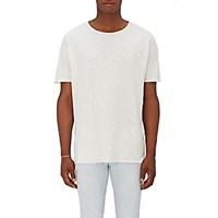 Nudie Jeans Men's Organic Cotton Raw Edge T Shirt White