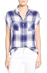 Rails Women's 'Britt' Plaid Cap Sleeve Shirt