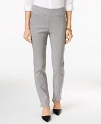 Charter Club Cambridge Houndstooth Straight Leg Pants Only At Macy's Deep Black Combo
