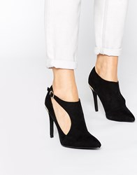 New Look Sevens Cut Out Heeled Shoe Boots Black