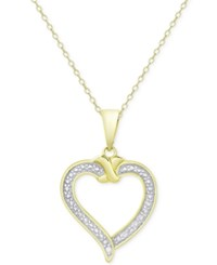 Victoria Townsend Heart Pendant Necklace In 18K Gold Over Sterling Silver Two Tone