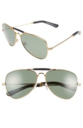 Freida Rothman 'Alex' 60Mm Unisex Aviator Sunglasses Black