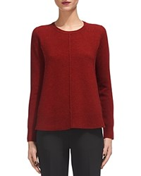 Whistles Boiled Wool Crewneck Sweater Red
