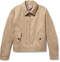 Thom Browne Cotton Twill Harrington Jacket Sand