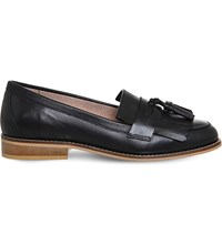 Office Penny Tassel Leather Loafers Black Leather
