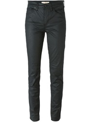 Tory Burch Waxed Effect Jeans Black