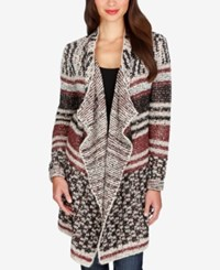 Lucky Brand Mixed Print Striped Cardigan Multi