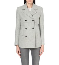 The White Company Wool Blend Peacoat Grey