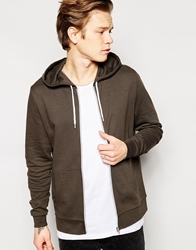 Asos Zip Up Hoodie Brown