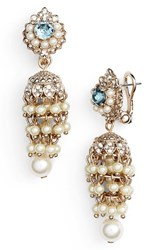 Marchesa Women's Regal Affair Faux Pearl Drop Earrings
