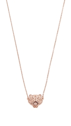 Kenzo Mini Tiger Necklace Pink Gold