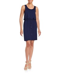 Lord And Taylor Drawstring Dress Evening Blue
