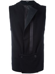 Ann Demeulemeester Button Detail Gilet Black