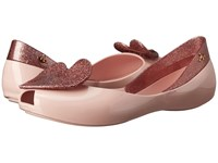 Vivienne Westwood Anglomania Melissa Queen Pale Pink Pink Glitter Women's Shoes