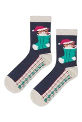 Topshop Cat In Stocking Socks By Hot Sox Heather
