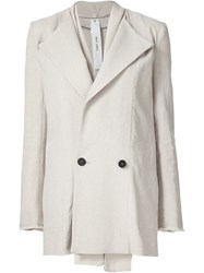 Damir Doma Double Breasted Jacket Nude And Neutrals