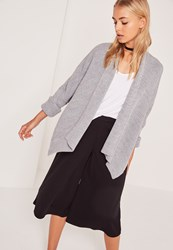 Missguided Cocoon Cardigan Grey
