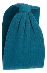 Collection Xiix 'Solid Basis' Knit Head Wrap Blue Green Emerald Isle