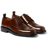 Ami Alexandre Mattiussi Cap Toe Glossed Leather Derby Shoes