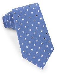 Lord And Taylor Floral Dot Tie Blue