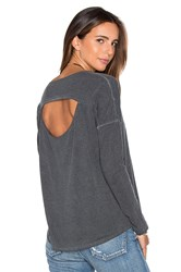Rvca Sutherland Long Sleeve Top Charcoal
