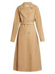 Rachel Comey Cotton Blend Trench Coat Khaki