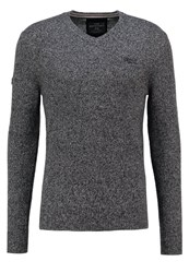 Superdry Harlo Jumper Gunmetal Twist Dark Grey