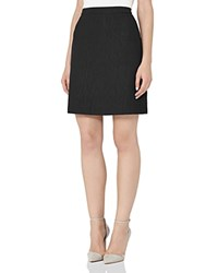 Reiss Mendes Textured Mini Skirt Black