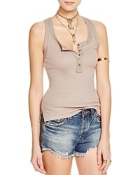 Free People Time Out Tank Antique Tan
