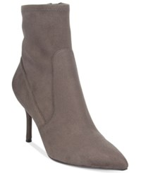 Nine West Cadence Sock Pointed Toe Booties Women's Shoes Gray