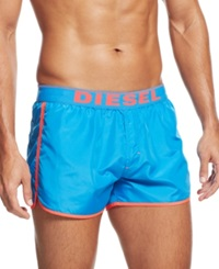 Diesel Reversible Logo Swim Trunks Pink Blue