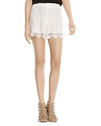 Vince Camuto Scalloped Lace Shorts Light Cream