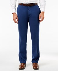Louis Raphael Hidden Extention Straight Fit Dress Pants Paris Blue