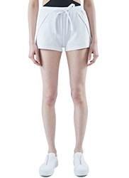 Y 3 Fluid Track Shorts White