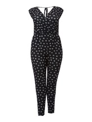 Therapy Spot Print Jumpsuit Black White