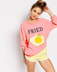 Wildfox Couture Wildfox Kim's Sweater Neon Sign Pink