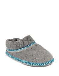Muk Luks Fleece Stitched Slippers Grey