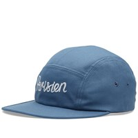 Maison Kitsune Parisien 5 Panel Cap Blue