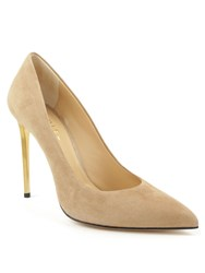 Daniel Meredith Metal Heel Court Shoes Beige