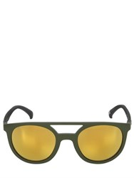 Adidas Originals By Italia Independent Rounded Acetate Sunglasses