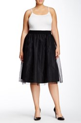 Soprano Tulle Party Skirt Plus Size Black