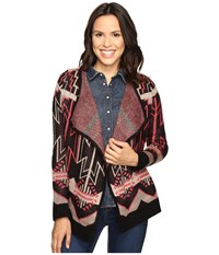 Rock And Roll Cowgirl Cardigan 46 9599 Black Women's Sweater