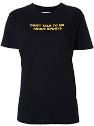 Off White 'Don't Talk To Me' T Shirt Black