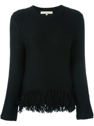 Vanessa Bruno Frayed Jumper Black