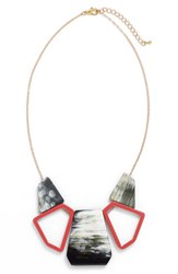 Women's Faire Collection 'Manhattan' Statement Necklace Coral