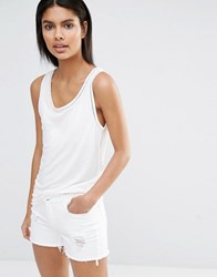Vila Lace Insert Detail Vest Top Snow White